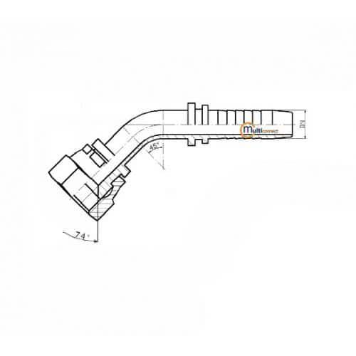 Фитинг DKJ (JIC) - 45°