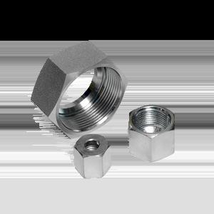 Накидные гайки и уплотнительные кольца